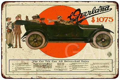 1915 Overland Automobile Vintage Look Reproduction 8x12 Metal Sign 8120631