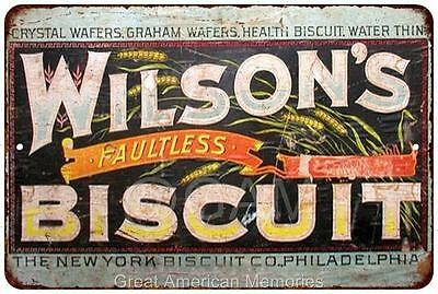 Wilson's Biscuit Vintage Look Reproduction Metal Sign 8x12 8121995