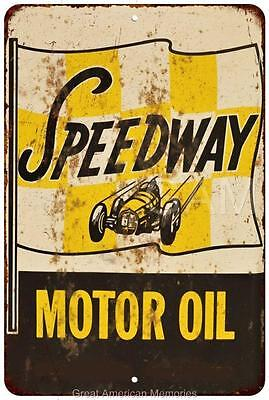 Speedway Motor Oil Vintage Look Reproduction 8x12 Metal Sign 8121801