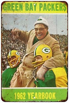 1962 Green Bay Packers Yearbook Vintage Reproduction 8x12 Metal Sign 8122003