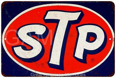 STP Oval Vintage Look Reproduction 8x12 Metal Sign 8121020