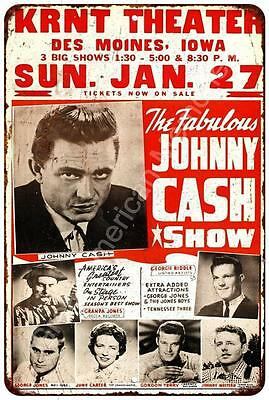 Johnny Cash Show Vintage Look Reproduction Metal Sign 8x12 8122178