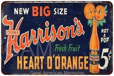 Harrison's Heart O'Orange Vintage Look Reproduction Metal Sign 8 x 12 8120398