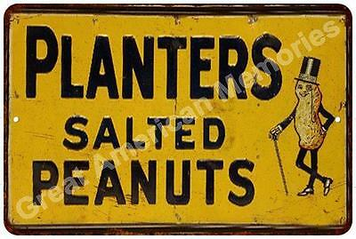 Planters Salted Peanuts Vintage Look Reproduction Metal Sign 8x12 8122508