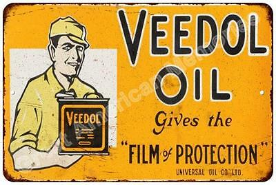 Veedol Oil Film of Protection Vintage Look Reproduction Metal Sign 8x12 8122899