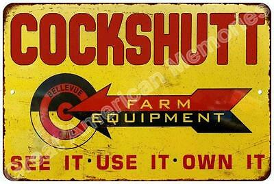 Cockshutt Farm Equipment Reproduction Metal Sign 8x12 8123342