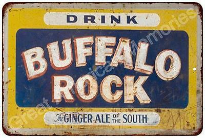 Buffalo Rock Ginger Ale Vintage Look Reproduction Metal Sign 8x12 8122626