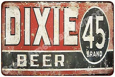 Dixie 45 Brand Beer Vintage Reproduction Metal Sign 8x12 8123427
