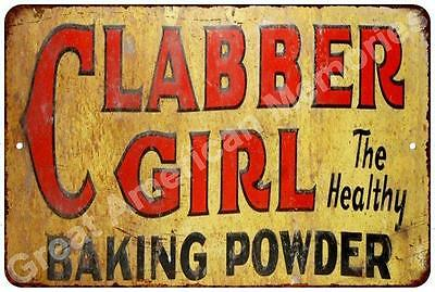 Clabber Girl Baking Powder  Vintage Look Reproduction Metal Sign 8x12 8122737