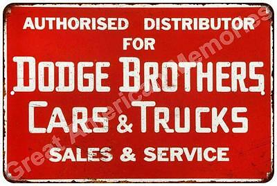 Distributor Dodge Brothers Cars Vintage Reproduction Metal Sign 8x12 8122747
