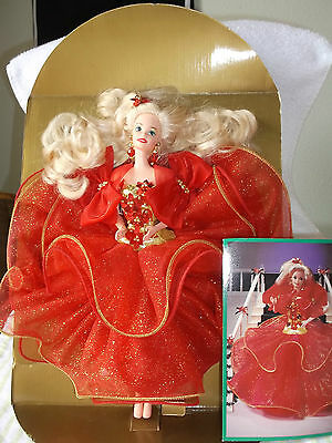 Happy Holidays Special Edition 1993 Barbie doll Mattel Red Dress NWOB