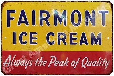 Fairmont Ice Cream Vintage Look Reproduction Metal Sign 8x12 8122769