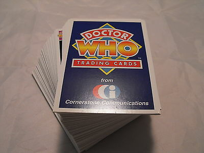 Doctor Who Cornerstone Series 1 Complete Basic Set Of 110 Cards