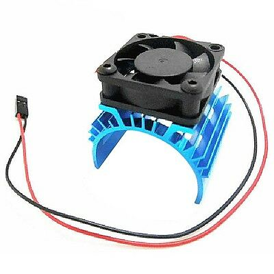 Heatsink & Cooling Fan Aluminum for 1:10 HSP RC Car 540 550 3650 Size Motor  F