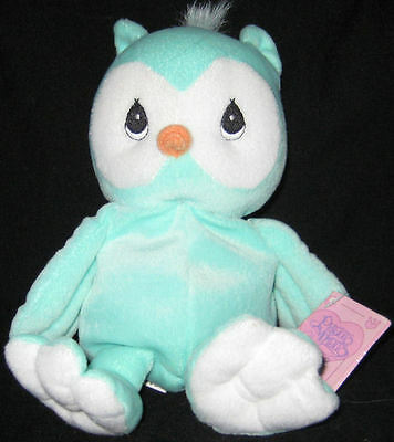 * Precious Moments Tender Tails Green Owl w/tag