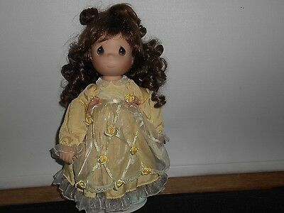 Precious Moments doll with porcelain head, hands & feet - soft bodied/curly hair
