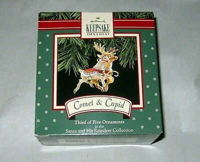 Hallmark Keepsake Ornament ~ Comet & Cupid ~ Reindeer Collection ~ 1992 *new