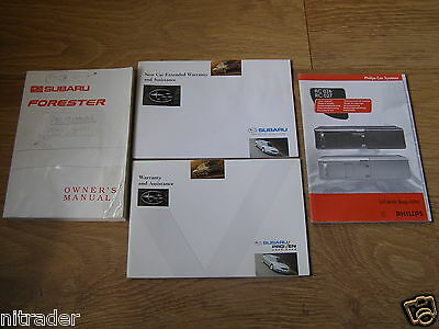 Subaru Forester Owners Handbook Set 1997 - 2002