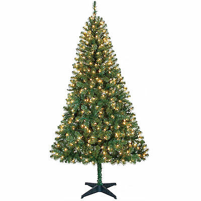 Holiday Time Pre Lit 6.5' Madison Pine Artificial Christmas Tree & Clear Lights