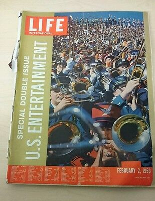 Vintage Life Magazine International Edition - February 2 1959 - Special Edition