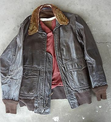 Named Wwii Us Navy G-1 Flight Jacket Had 5 Inch Patch To Restore