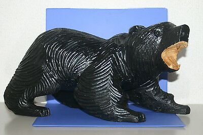 Wooden Bear which to intimidate AINU JAPAN 57