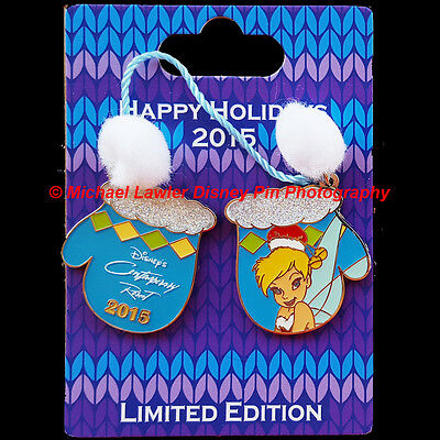 Wdw Contemporary Resort Holiday Mitten Resort Collection 2015 Tinker Bell Pin