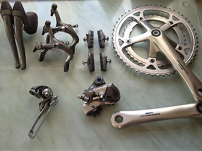 Vintage Shimano 600 Tri Colour Part Groupset. 90's Road Bike 700c