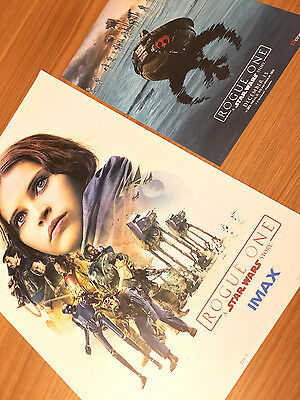 Original Star Wars Rogue One IMAX Week 2 Limited Edition Poster + Bonus Poster