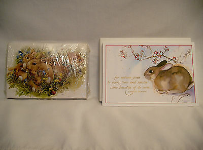 Lot Of Vintage  Bunny Rabbit Christmas Cards & M. Bastin Notes & Stickers!!