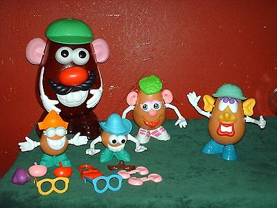 Set Of 52 Pieces Hasbro Brand Mr. Potato Head Large Set- Container With Parts