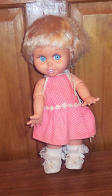 1990 Galoob BABY FACE Doll SO INNOCENT CYNTHIA #7 Dressed Blonde HTF