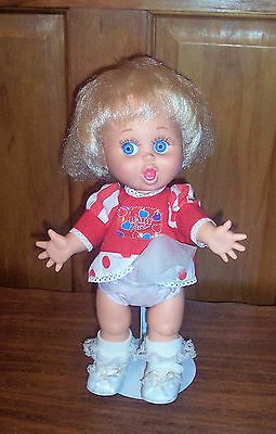 Vintage 1990 Galoob Baby Face Doll So Surprised Suzie #2 Original Shirt HTF