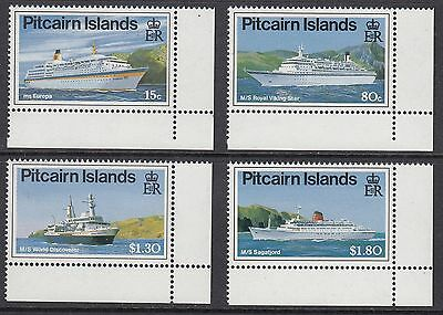PITCAIRN ISLANDS 1991 CRUISE LINERS, Set of 4, Mint Never Hinged
