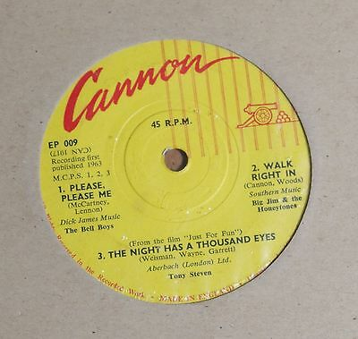 """VARIOUS ARTISTS 7"""" 7 inch vinyl single Cannon EP 009"""