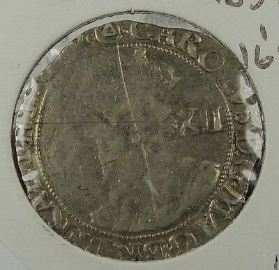 """1639 Charles I Shilling - part of the """"Middleham Hoard""""  -rare coin"""