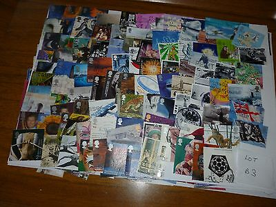 G B 1990 s & 2000 s X100 USED STAMPS OFF PAPER LOT B3
