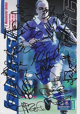 BIRMINGHAM CITY FC Multi-Hand SIGNED x16 Programme Cover/Cutting 1998