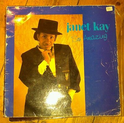 Janet Kay - So Amazing Lp Janet 01 Body Music 1988 Vg!