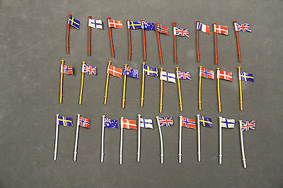 SCALEXTRIC Flags For C274 ARMCO Crash Barriers - Red, White & Orange (x30)