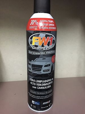 Fw1 Cleaning Wax - Fantastica Cera Para Coches Con Carnauba