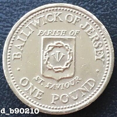 1984 One Pound £1 Bailiwick Of Jersey Parish Of St Saviour Unc Rare
