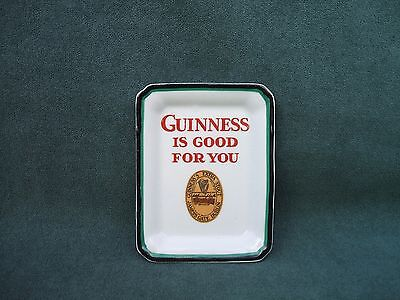 "Old Mintons  ""Guinness Is Good For You"" Ceramic Ashtray/ Pin Dish c 1950s"
