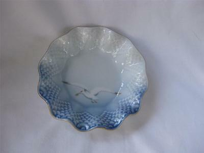 "B&G Bing & Grondahl Flying Seagull Scalloped Fluted 5.5"" Candy Nut Dish Bowl 350"