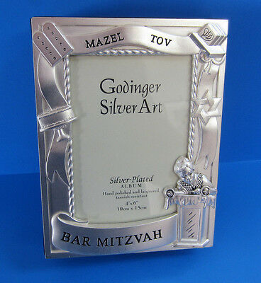 New Silver Plated Bar Mitzvah Photo Album