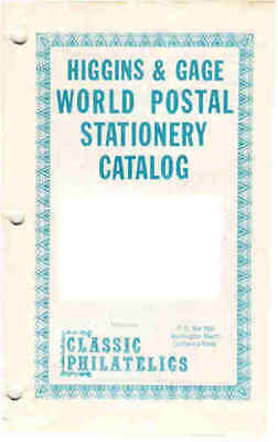 COSTA RICA -    HIGGINS and GAGE SPECIALISED POSTAL STATIONERY CATALOGUE