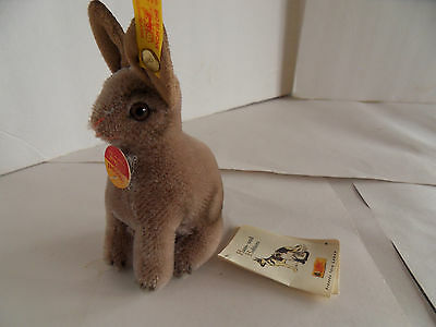 Steiff rabbit all Ids mohair miniature made in Germany 1750