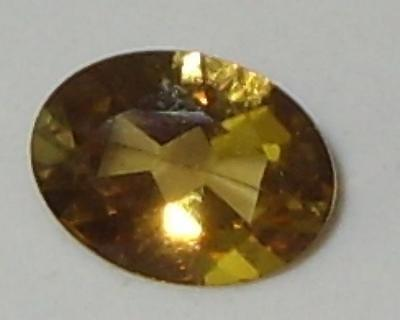 1.24ct Valuable Natural Tanzanian Gold To Gold Green C/S Chrysoberyl Oval 8x6mm