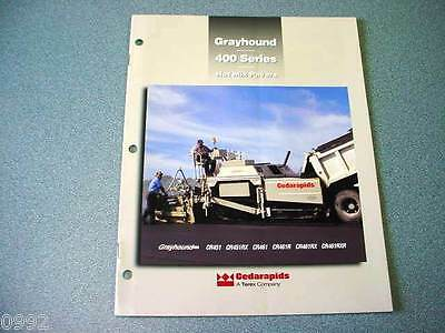 Cedarapids Grayhound 400 Series Hot Mix Pavers Brochure