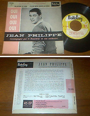 RARE French EP 45t BIEM (7') JEAN PHILIPPE (03/1959)